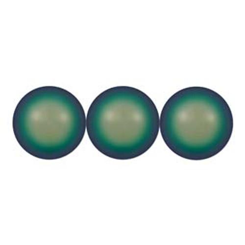 3mm Swarovski Pearls, Scarabaeus Green (Qty: 50)
