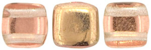 2-Hole Tile Beads, Apollo Gold (Qty: 25)