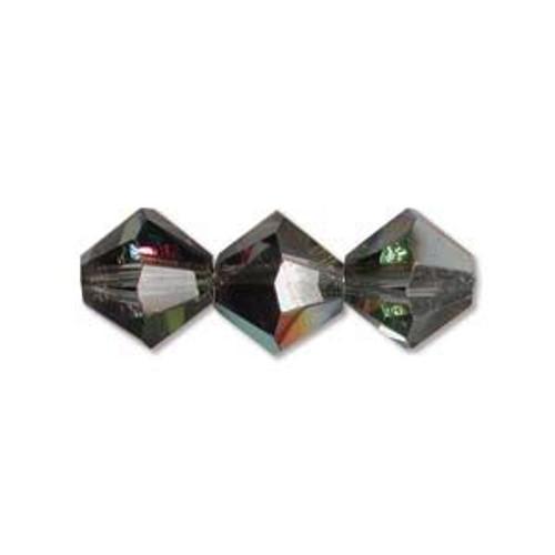 4mm Swarovski Bicones, Crystal Vitrail Medium (Qty: 50)