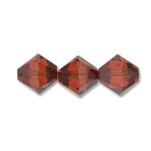 3mm Swarovski Bicones, Red Magma (Qty: 50)
