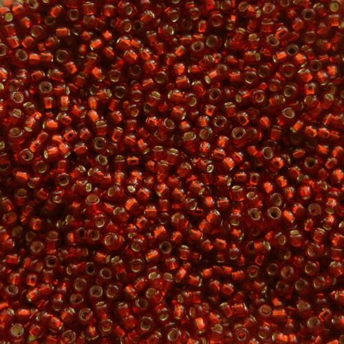 15-0011B, Silver-Lined Dark Red (14 gr.)