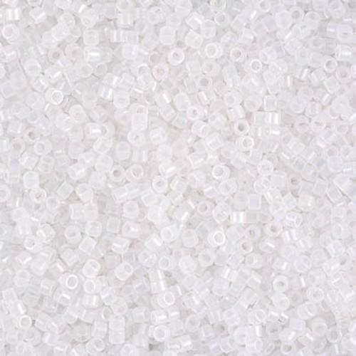 Size 11, DB-0220, White Opal (10 gr.)