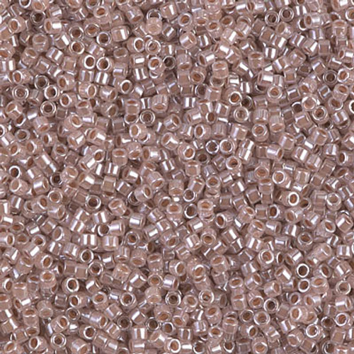 Size 11, DB-0256, Taupe-Lined Crystal (10 gr.)