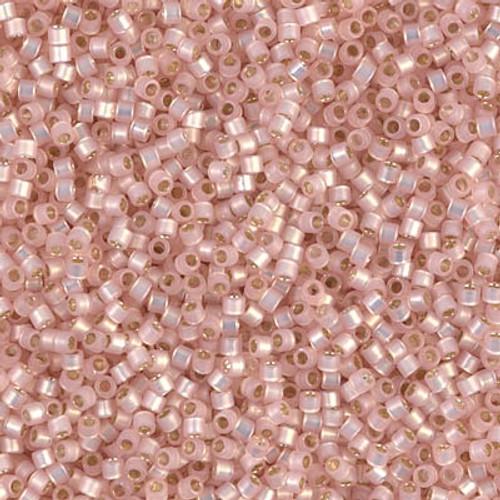 Size 11, DB-0624, Silver-Lined Light Pink Alabaster Dyed (10 gr.)