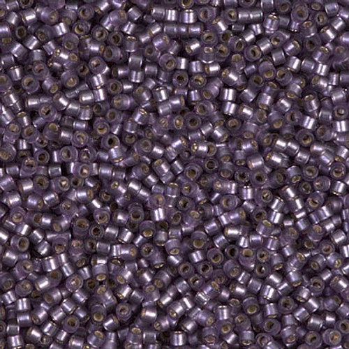 Size 11, DB-0695, Semi-Matte Silver-Lined Dyed Violet (10 gr.)