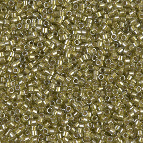 Size 11, DB-0908, Sparkling Light Yellow-Lined Chartreuse (10 gr.)