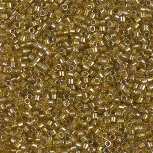 Size 11, DB-0909, Sparkling Marigold-Lined Chartreuse (10 gr.)