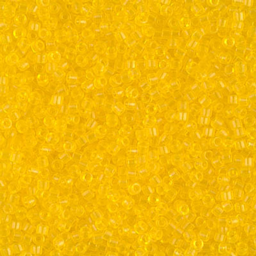 Size 11, DB-1301, Dyed Transparent Light Yellow (10 gr.)