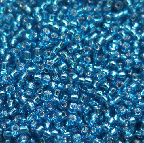 11-0019A, Silver-Lined Dark Aqua (28 gr.)