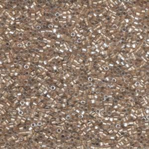 Size 11, DBC-0907, Sparkling Light Bronze-Lined Crystal (Hex) (10 gr.)
