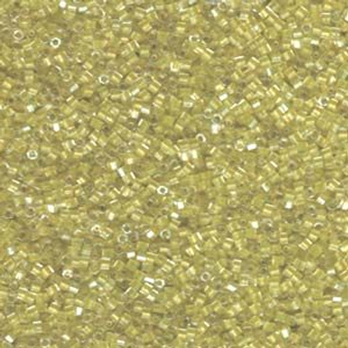Size 11, DBC-0910, Sparkling Yellow Green-Lined Crystal (Hex) (10 gr.)