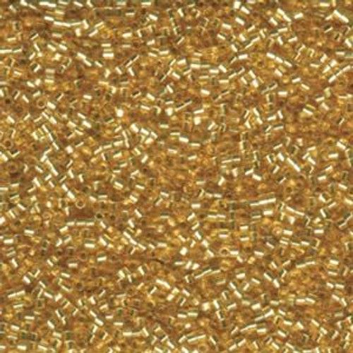 Size 11, DBC-0042, Silver-Lined Gold (Hex) (10 gr.)