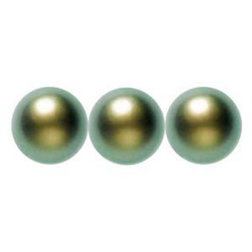 3mm Swarovski Pearls, Iridescent Green (Qty: 50)