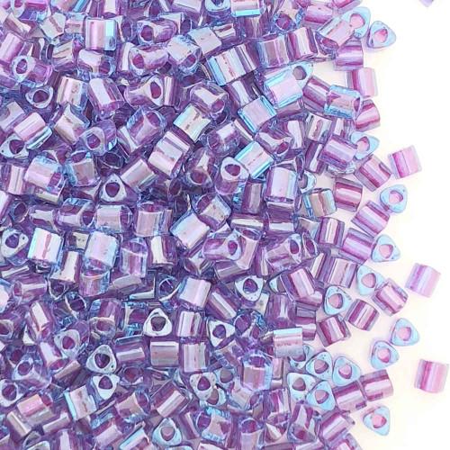 11-TRI-0788, Lavender-Lined Crystal Rainbow Triangles (28 gr.)