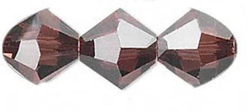 3mm Swarovski Bicones, Burgundy (Qty: 50)