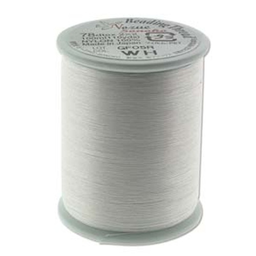 Nozue Sonoko Beading Thread Spool, White