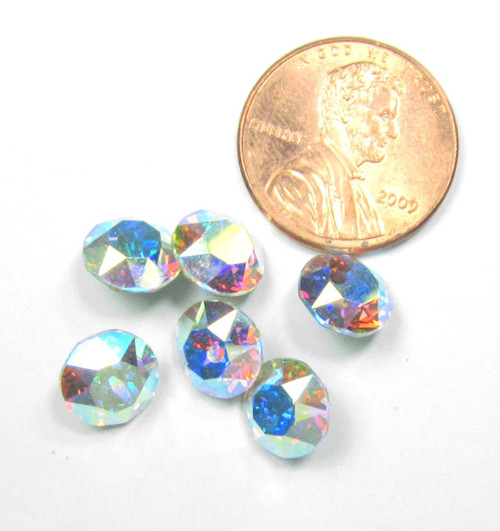 39ss (8mm) Chatons, Crystal AB (Qty: 6)