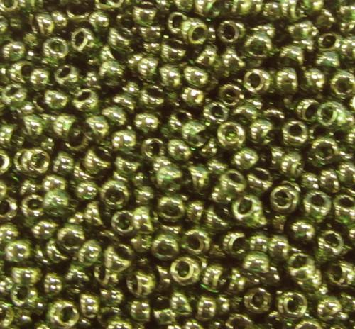 15-0306, Olive Green Gold Luster (Miyuki) (14 gr.)