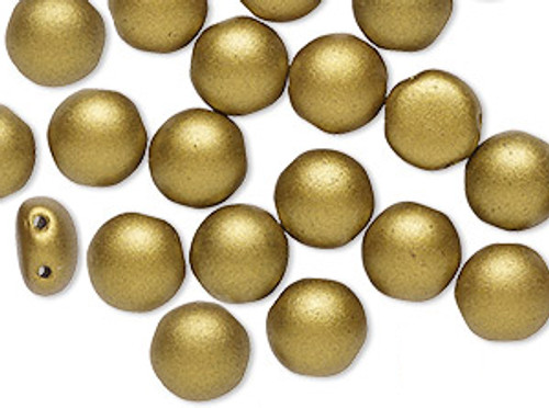 8mm Candy Beads, Crystal Bronze Pale Gold (Qty: 20)