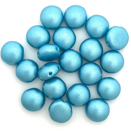 8mm Candy Beads, Pastel Aqua (Qty: 20)