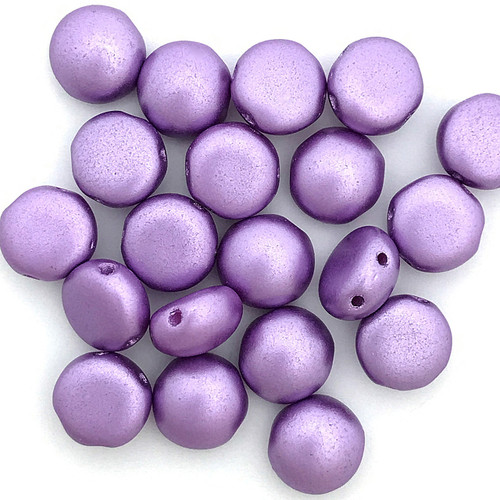 8mm Candy Beads, Pastel Lilac (Qty: 20)