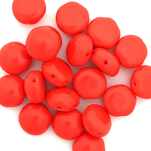 8mm Candy Beads, Red (Qty: 20)