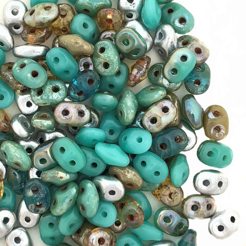 SuperDuos, African Turquoise Mix (10 gr.)