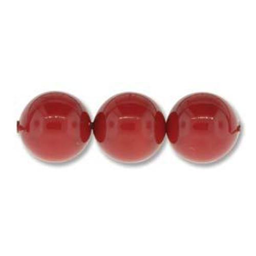 3mm Swarovski Pearls, Red Coral (Qty: 50)
