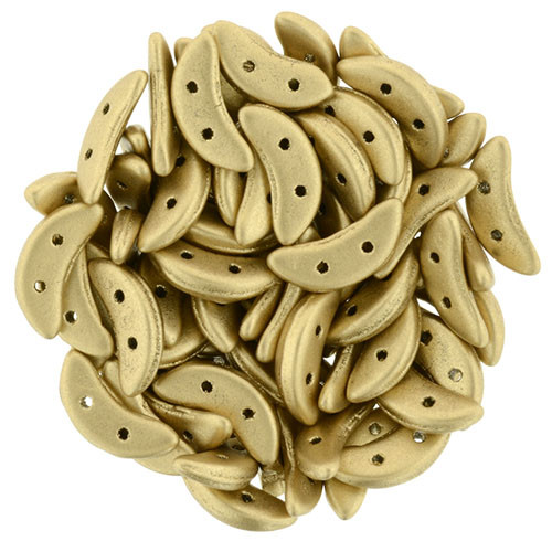 Crescent Beads, Matte Metallic Flax (10 gr.)