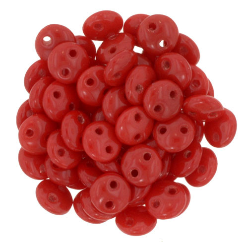 2-Hole Lentils, Opaque Red (Qty: 50)