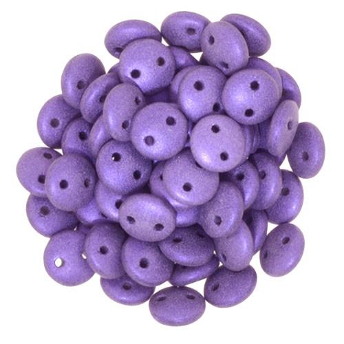 2-Hole Lentils, Purple Metallic Suede (Qty: 50)
