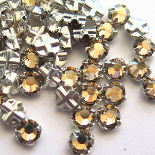 16ss Swarovski Rose Montees - Crystal Golden Shadow (Qty: 50)