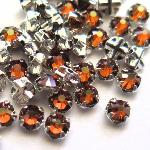 16ss Swarovski Rose Montees - Smoked Topaz (Qty: 50)