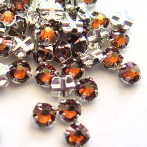16ss Swarovski Rose Montees - Crystal Copper (Qty: 50)