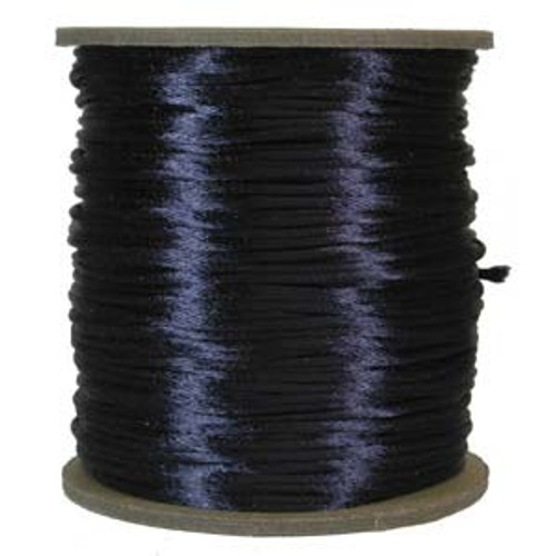 2mm Satin Cord (Rattail), Navy (6 yds.)