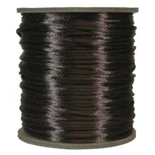 2mm Satin Cord (Rattail), Brown (6 yds.)