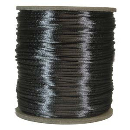 2mm Satin Cord (Rattail), Dark Grey (6 yds.)