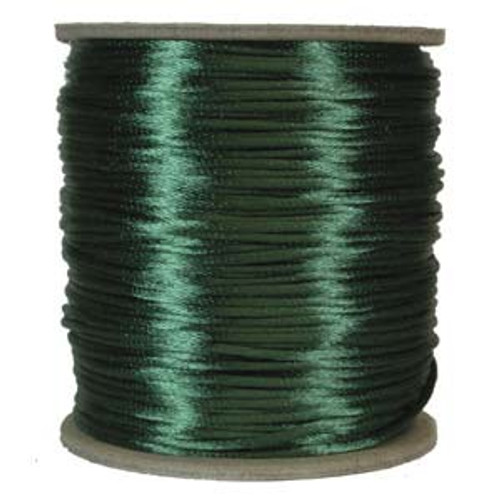 2mm Satin Cord (Rattail), Dark Green (6 yds.)