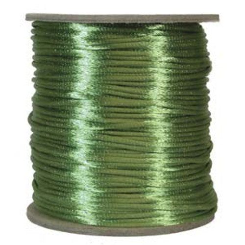 2mm Satin Cord (Rattail), Apple Green (6 yds.)