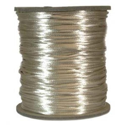 2mm Satin Cord (Rattail), Light Beige (6 yds.)