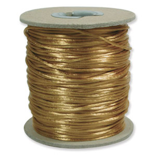 2mm Satin Cord (Rattail), Antique Gold (6 yds.)