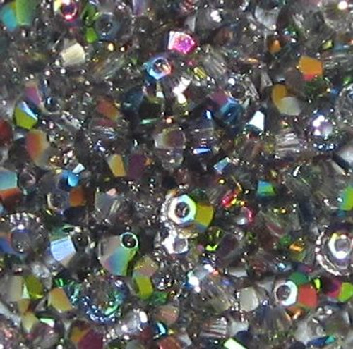 3mm Swarovski Bicones, Crystal Vitrail Medium (Qty: 50)