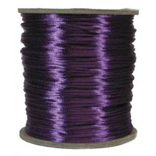 2mm Satin Cord (Rattail), Purple (6 yds.)