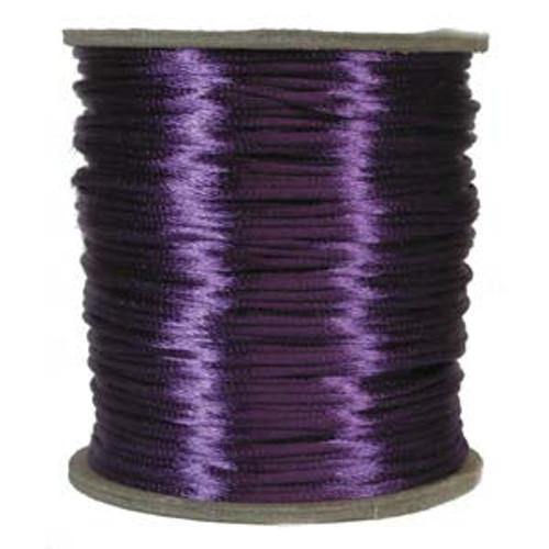 2mm Satin Cord (Rattail), Purple (6 yds.)