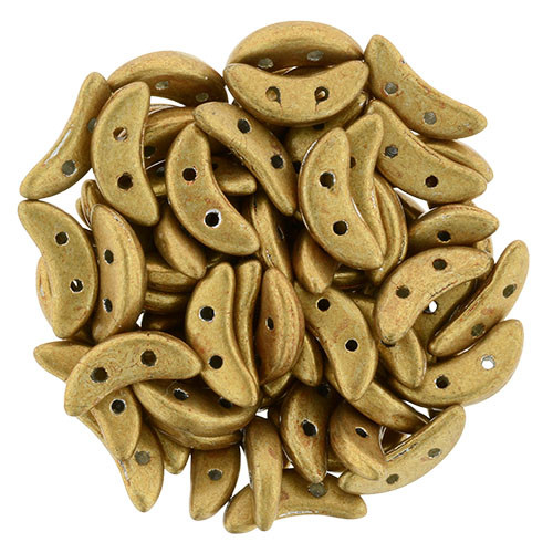 Crescent Beads, Metallic Gold (10 gr.)