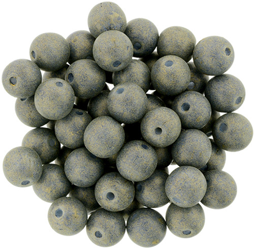 6mm Round Glass Beads, Pacifica Poppy Seed (Qty: 25)