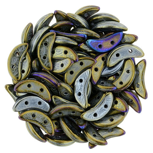 Crescent Beads, Brown Iris (10 gr.)