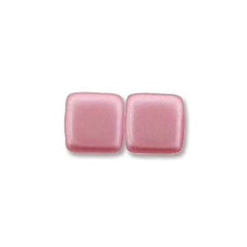 2-Hole Tile Beads, Pink (Qty: 25)