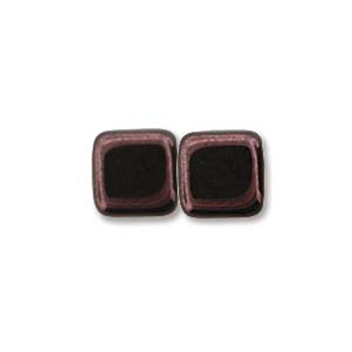 2-Hole Tile Beads, Metallic Amethyst Luster (Qty: 25)