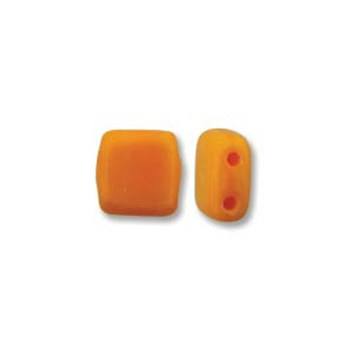 2-Hole Tile Beads, Sunflower Yellow (Qty: 25)